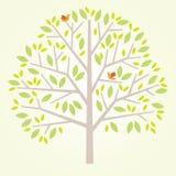 Stilisierter Baum mit Vögeln Lizenzfreie Stockfotos