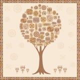 Stilisierter Baum von den ethnischen Elementen Stockbild