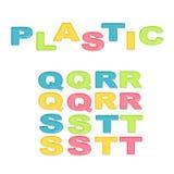 Stilisierter bunter Plastik des Alphabetes Lizenzfreies Stockfoto