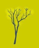 Stilisierter einzelner Baum Stockfoto