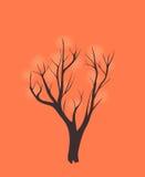 Stilisierter einzelner Baum Stockfotografie
