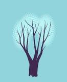 Stilisierter einzelner Baum Stockbilder