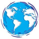 Stilisierter Erdplanet - Kugel Lizenzfreies Stockfoto