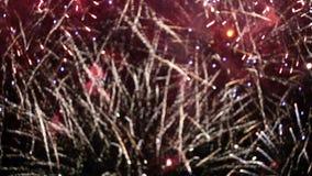 Stilisierter Feuerwerksvideoclip stock video footage