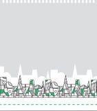Stilisierter geometrischer Wald Stockfotos