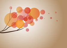 Stilisierter Herbstbaumast Text kann addiert werden Stockfotos