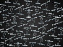 Stilisierter Hintergrund für Café Stockfoto