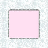 Stilisierter Rahmen der rosa quadratischen Weinlese Lizenzfreie Stockbilder