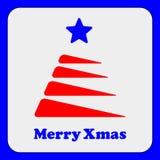 Stilisierter roter Weihnachtsbaum mit Stern Lizenzfreie Stockfotos