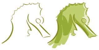 Stilisierter Seahorse lokalisiert stock abbildung