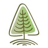 Stilisierter Vektorbaum Lizenzfreies Stockfoto