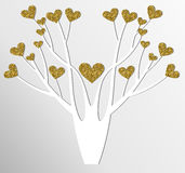 Stilisierter Vektorbaum Stockfoto