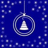 Stilisierter Weihnachtsball und -sterne Stockbilder