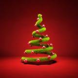 Stilisierter Weihnachtsbaum Lizenzfreie Stockfotos