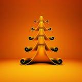 Stilisierter Weihnachtsbaum Stockbild
