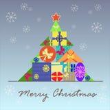 Stilisierter Weihnachtsbaum für den Feiertag Stockbild
