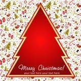 Stilisierter Weihnachtsbaum mit Weihnachtsspielwaren Stockbilder