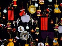 Stilisierter Weinlesedesign Weihnachtsbaum Stockfoto