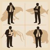 Stilisiertes Bild von Managern und ihre Arten des Verhaltens Stockfotos