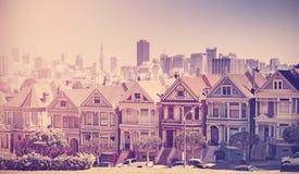 Stilisiertes Foto der Retro- Weinlese von San Francisco Stockbilder