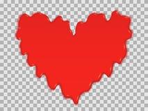 Stilisiertes Herz des Bluts f?r den Feiertag stockfotografie