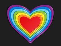 Stilisiertes Herz des Regenbogens von Bonbons lizenzfreies stockfoto