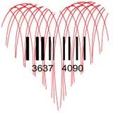 Stilisiertes Herz für Verkauf Stockfoto