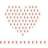 Stilisiertes Herz gemacht von den roten Birnen Nahtlose horizontale Girlande lizenzfreie abbildung