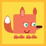 Stilisiertes Ikonensymbol Fox Stockfotos