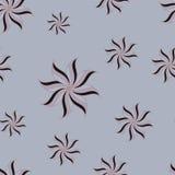 Stilisiertes nahtloses Muster des Sternanises Grauer Hintergrund Lizenzfreie Stockfotos