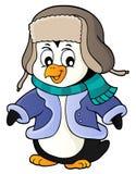 Stilisiertes Pinguinthemabild 2 lizenzfreie abbildung
