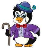 Stilisiertes Pinguinthemabild 1 stock abbildung
