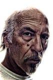 Stilisiertes Porträt des unrasierten älteren Mannes lizenzfreies stockbild