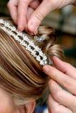 Stilista di capelli immagini stock