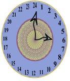 Stilista unico 24 ore di orologio di parete Immagine Stock Libera da Diritti