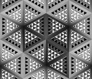 Stilistische abstracte lichte achtergrond met een diverse geometrische structuur 3D Illustratie Stock Foto's