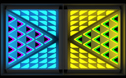 Stilistische abstracte lichte achtergrond met een diverse geometrische structuur 3D Illustratie Stock Fotografie