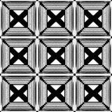 Stilistische abstracte lichte achtergrond met een diverse geometrische structuur 3D Illustratie Royalty-vrije Stock Afbeelding