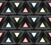Stilistische abstracte lichte achtergrond met een diverse geometrische structuur 3D Illustratie Stock Afbeeldingen