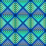 Stilistische abstracte lichte achtergrond met een diverse geometrische structuur 3D Illustratie Royalty-vrije Stock Fotografie