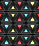 Stilistische abstracte lichte achtergrond met een diverse geometrische structuur 3D Illustratie Royalty-vrije Stock Afbeeldingen