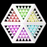 Stilistisk abstrakt ljus bakgrund med en olik geometrisk struktur illustration 3d vektor illustrationer