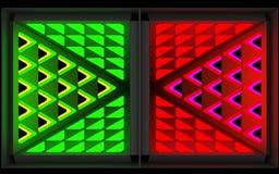 Stilistisk abstrakt ljus bakgrund med en olik geometrisk struktur illustration 3d royaltyfri illustrationer