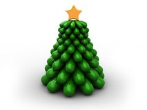 Stilized christmas tree Royalty Free Stock Photos
