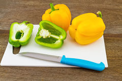 Still – life concept colorful sweet bell pepper (capsicum)  an Royalty Free Stock Images
