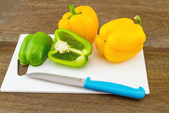 Still – life concept colorful sweet bell pepper (capsicum)  an Stock Photo