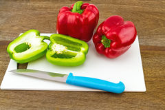 Still – life concept colorful sweet bell pepper (capsicum)  an Stock Photography