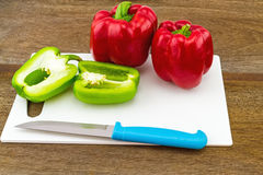 Still – life concept colorful sweet bell pepper (capsicum)  an Stock Image
