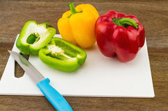 Still – life concept colorful sweet bell pepper (capsicum)  an Royalty Free Stock Photos