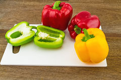 Still – life concept colorful sweet bell pepper (capsicum)   i Stock Photo